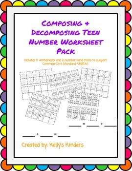 Composing & Decomposing Teen Numbers Pack