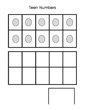Composing Teen Numbers Math Center