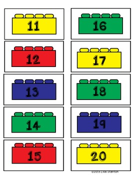 Composing Teen Numbers with Legos