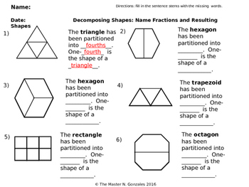Composing and Decomposing shapes with equal parts using Fr