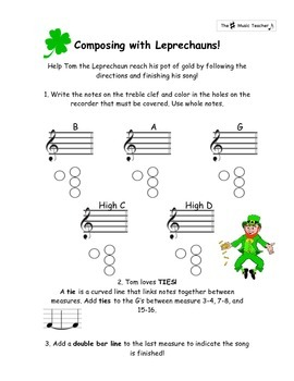Composing with Leprechauns: A Guided St. Patrick's Day Rec