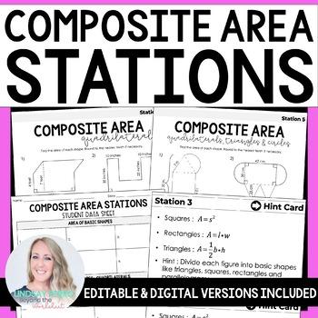 Composite Area Math Stations