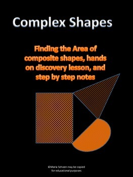 Composite/Complex Shapes Area Discovery Lesson, Quiz, and