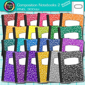 Composition Notebooks Clip Art 2 - Back to School Ideas, P