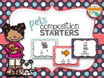 Composition Starter & Rhythm Practice Cards - Pet Theme