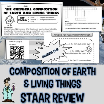 Composition of earth & living things INB QR code 5 6 7 8 T