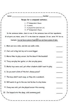 Compound Complex Sentences - Unit Lesson Plans