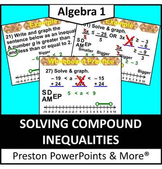 (Alg 1) Solving Compound Inequalities in a PowerPoint Pres