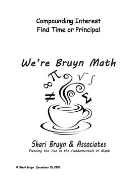 Compound Interest - Find Time or Principal