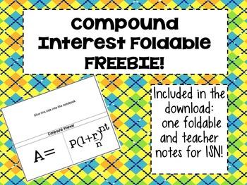 Compound Interest Foldable FREEBIE