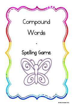 Compound Word Spelling game