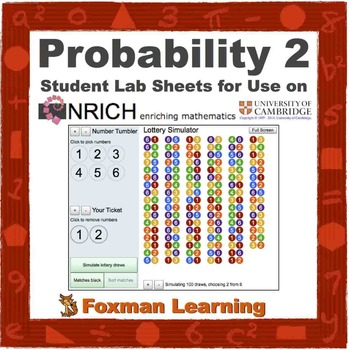 Probability Lottery -- nrich Interactive Lab for Middle Sc