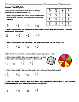 Compound Probability Quiz