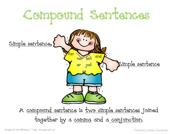 Compound Sentence Poster and Practice
