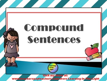 Compound Sentences Editable Power Point with Printable