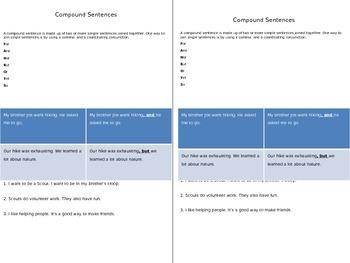 Compound Sentences Glue-In