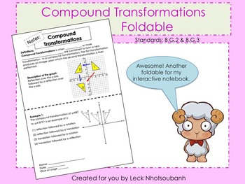 Compound Transformations Foldable for Interactive Notebooks