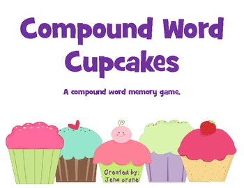 Compound Word Cupcakes - A Memory Game