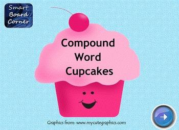 Compound Word Cupcakes SMART Board Lesson