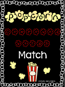 Compound Word Match Popcorn Theme