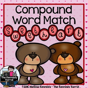 Valentine's Compound Word Matching Game { Center, Matching