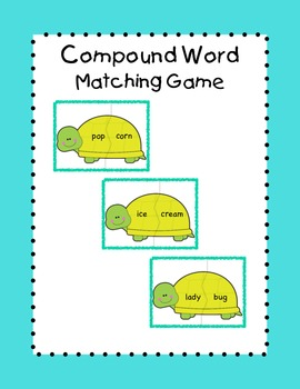 Compound Word Matching Game / Literacy Center