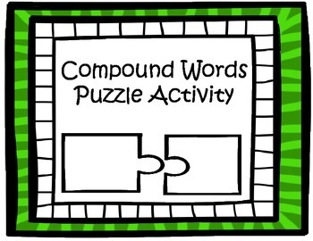 Compound Word Puzzle Pieces