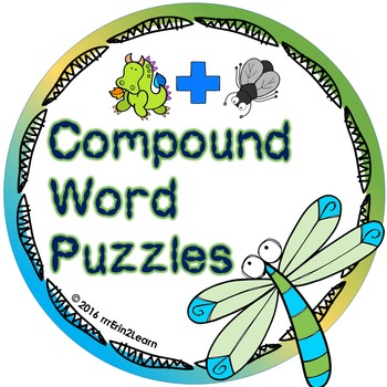 Compound Word Puzzles Kindergarten First Grade Second Grade