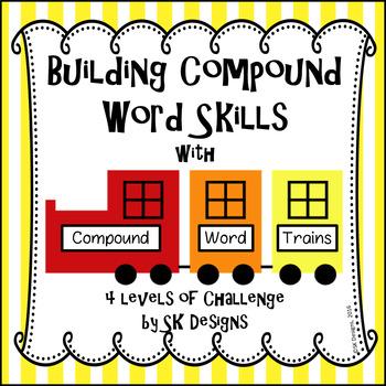 Compound Word Activity Fun No Prep w 4 Challenge Levels &