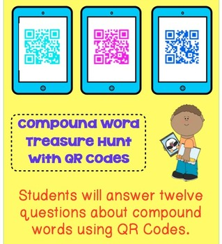 Compound Word Treasure Hunt with QR Codes
