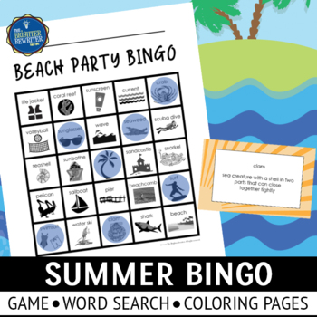 Compound Words Bingo with Summer Themes