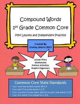 Compound Words: 1st Grade Common Core Packets and Lessons