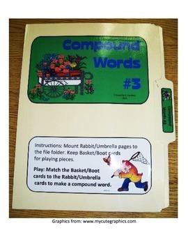 Compound Words #3: File Folder Activity