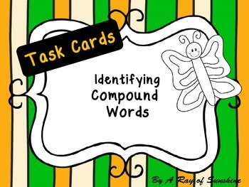 Compound Words {30 task cards}