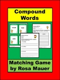 Compound Words Christmas Game Matching Activity Task Cards