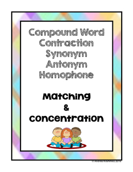 Compound Words, Contractions, Synonyms, Antonyms, and Homo