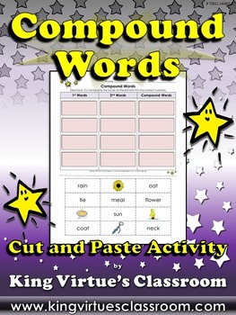 Compound Words Cut and Paste Activity #1 - King Virtue's C