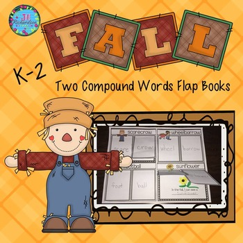 Compound Words Fall Flap Books for K, First Grade or ESL N