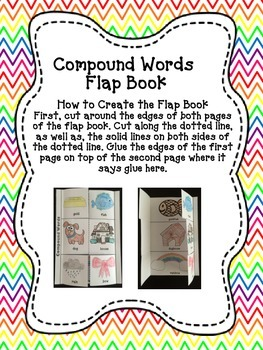 Compound Words Flap Book