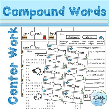 Compound Words  Hands on Sorts #springbackin
