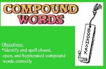 Compound Words - Jeopardy Game