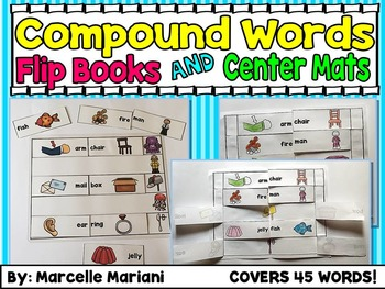 Compound Words Flip Books and Center Word Work Mats- COVER