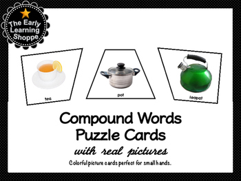 Compound Words Puzzle Cards With Real Pictures 28 Sets!