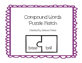 Compound Words Puzzle Center
