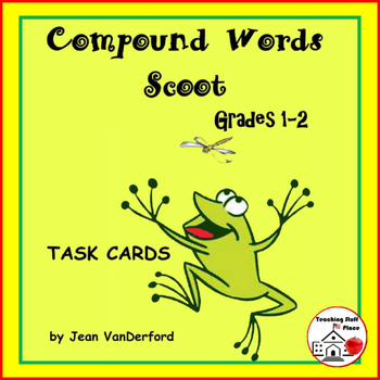 Compound Words | TASK CARDS | Spelling | FUN Game | CORE | Gr 1-2