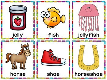 Compound Words Center and Visuals