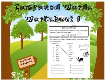 Compound Words - Worksheet 1
