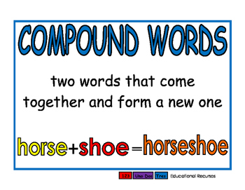 Compound Words blue