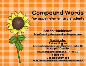 Compound Words {for upper elementary grades}