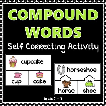 Compound Words - self correcting activity